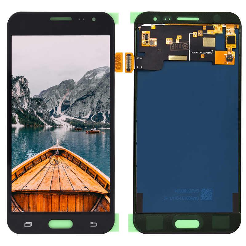 LCD قطع غيار سامسونج غالاكسي J3 2016 J320 J320F J320H شاشة الكريستال السائل مجموعة المحولات الرقمية لشاشة تعمل بلمس مع سطوع التحكم