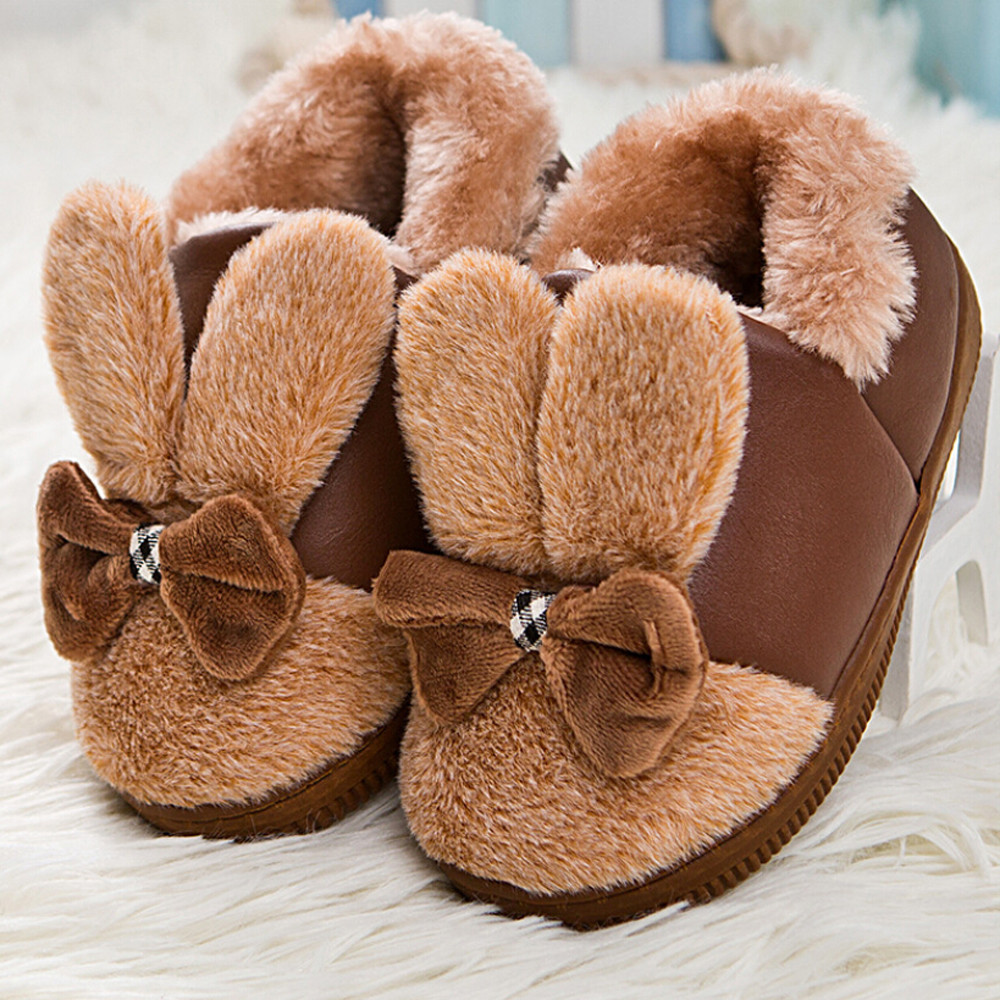 2018 winter Baby Girl shoes Baby Leater Bowknot Rubber Soft Sole Snow Boots Soft Crib Sh ...