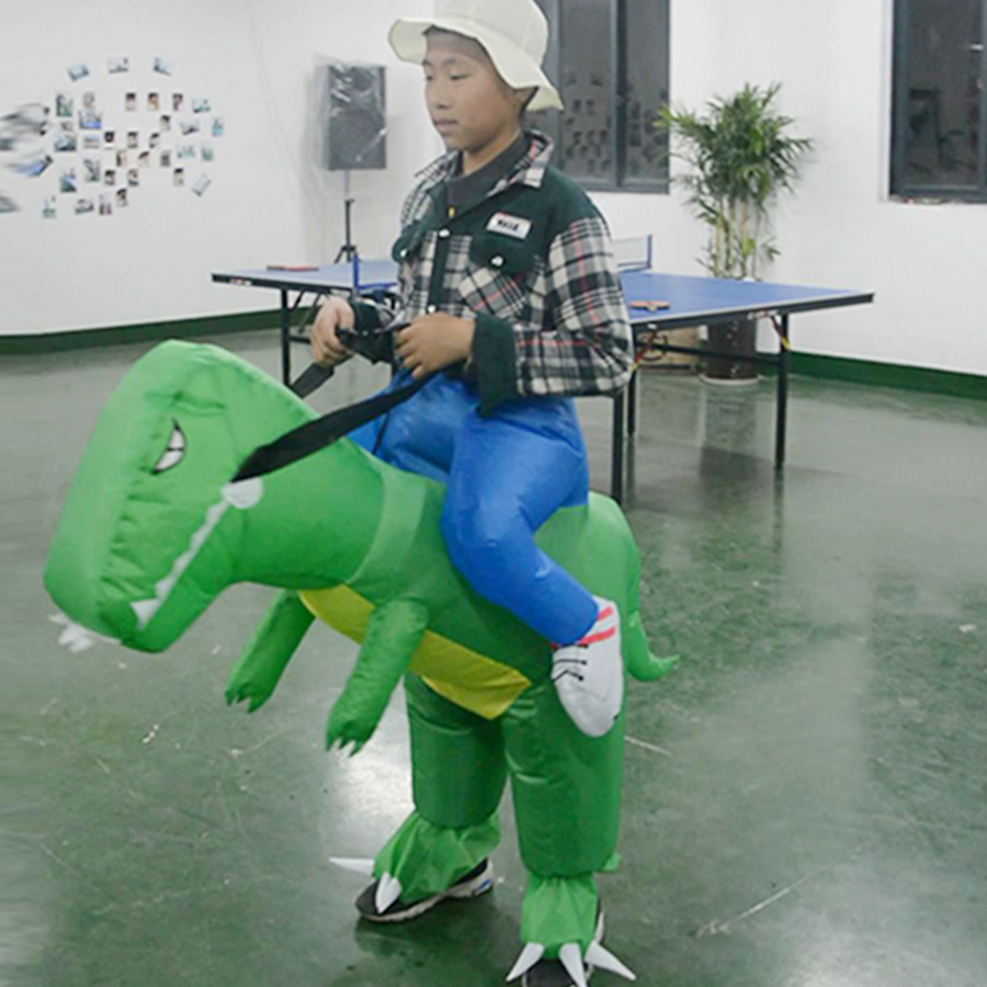 Popular Halloween Cosplay Clothes Costumes Outfit Fancy Dress Inflatable Kid Dinosaur For Party Dino Funny Holiday Costume