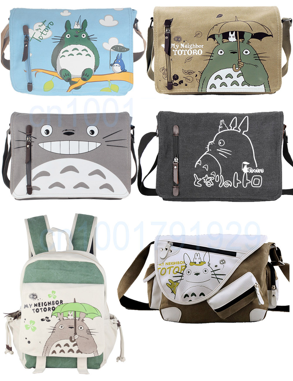Ecoparty Sling Pack My Neighbor Totoro Cosplay Anime My Neighbor Totoro Messenger Canvas Bag Shoulder Bag string sling pack