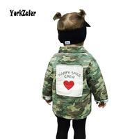 Yorkzaler Baby Girls Boys Jacket Cardigan 2017 Fashion Autumn Camouflage Long Coats Children S Windbreaker 18M