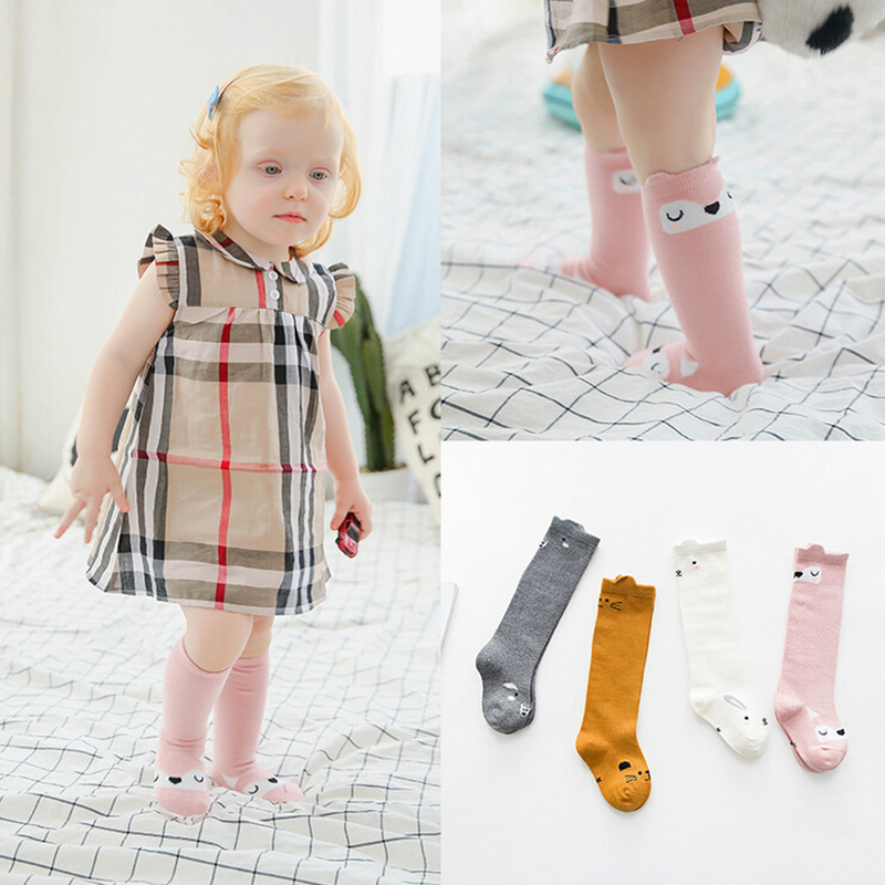 FANSIN Brand Cartoon Animals Baby Stockings Cotton Children Knee High Long Stocking Toddlers Boy Girls Newborns