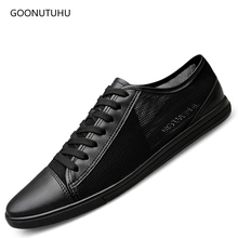 цена на Fashion men's shoes casual summer breathable mesh platform shoes for men young students hot sale black & white shoe man big size