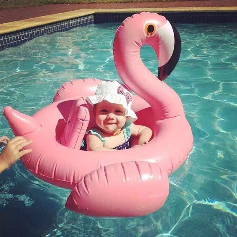 جديد حمام أطفال تعويم نفخ فلامنغو سوان طوافة بلاستيكية للسباحة طفل مقعد تعويم الصيف المياه متعة لعبة لحمام السباحة الاطفال طوافة بلاستيكية للسباحة