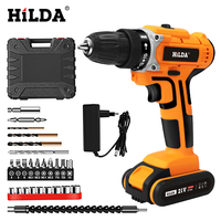 HILDA 21V Electric Drill With Rechargeable Lithium Battery Electric Screwdriver Cordless Screwdriver Two speed Power Tools