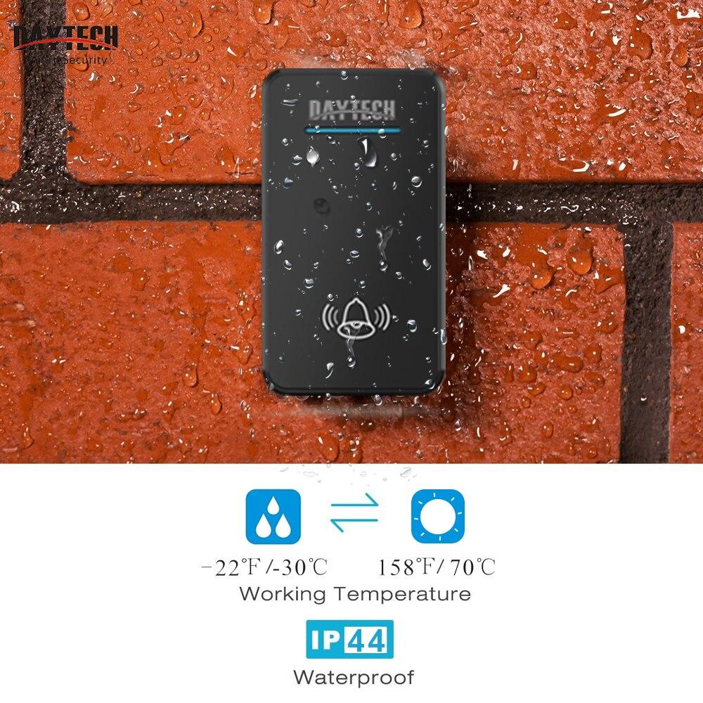 Image 5 - DAYTECH  Wireless DoorBell Kit Door Bell Ring Tones Chime Home Welcome LED Indicator Waterproof Smart Doorbell Long Work Range-in Doorbell from Security & Protection