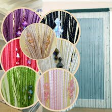 Sparkle Beaded String Door Window Curtain Divider Room Fly Screen Blind Tassel(China)
