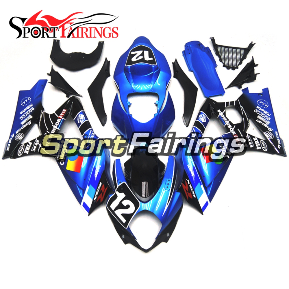 Fairings Fit Suzuki GSXR1000 GSXR-1000 K7 Year 2007 2008 07 08 Injection ABS Motorcycle Fairing Kit Bodywork Cowling Pearl Blue