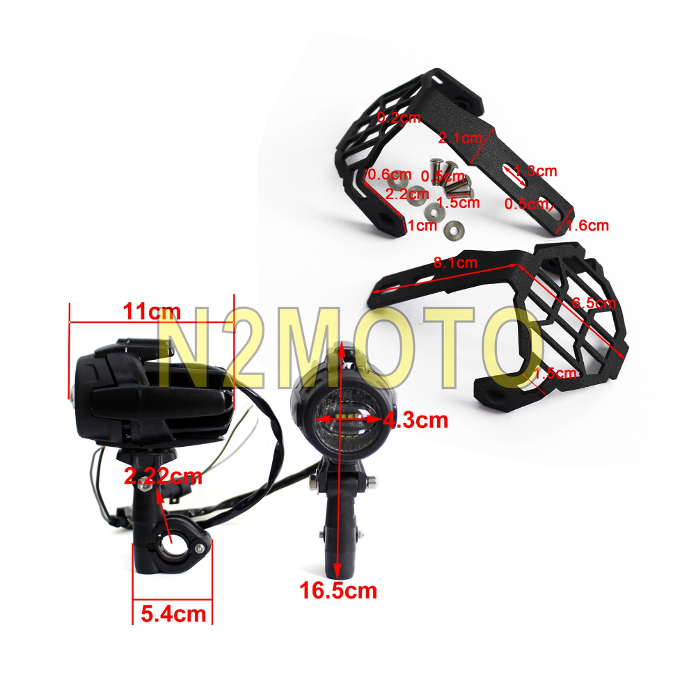 hight resolution of for bmw r1200 gs motorcycle led spotlight headlight grill guard driving fog light wiring harness kit