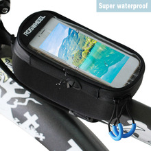 ROSWHEEL Bicycle Bag Frame Pack Riding Equipment Cycling bags panniers Frame Front Tube Bag For CellPhone