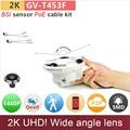 Широкий угол H.265 UHD (4*720 P) 2 К ip-камера с PoE комплект проводов массив СВЕТОДИОДНЫХ 4mp/1080 P FHD безопасности cctv ONVIF P2P GANVIS GV-T453F pk