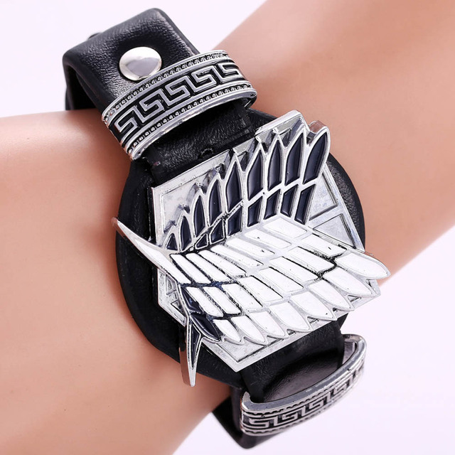 Attack On Titan Leather Bracelets (2 colors)