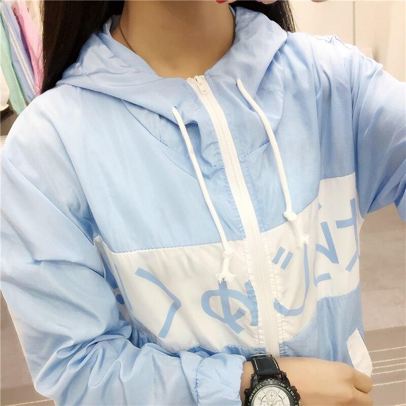 New Jackets Womens 2018 Hooded Fashion Thin Top Design Summer Sunscreen Jacket Outwear Women Coat