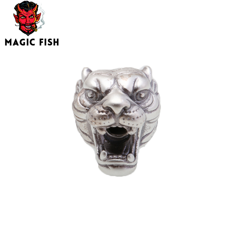Beads & Jewelry Making Beads Sporting Magic Fish Charms Beads For Jewelry Making Tiger Head Stainless Steel Diy Men Bracelets&bangles Wholesale Kralen Scrapbooking