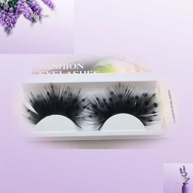 Artificial Trendy Colorful Feather False Eyelashes Cosmetic Makeup