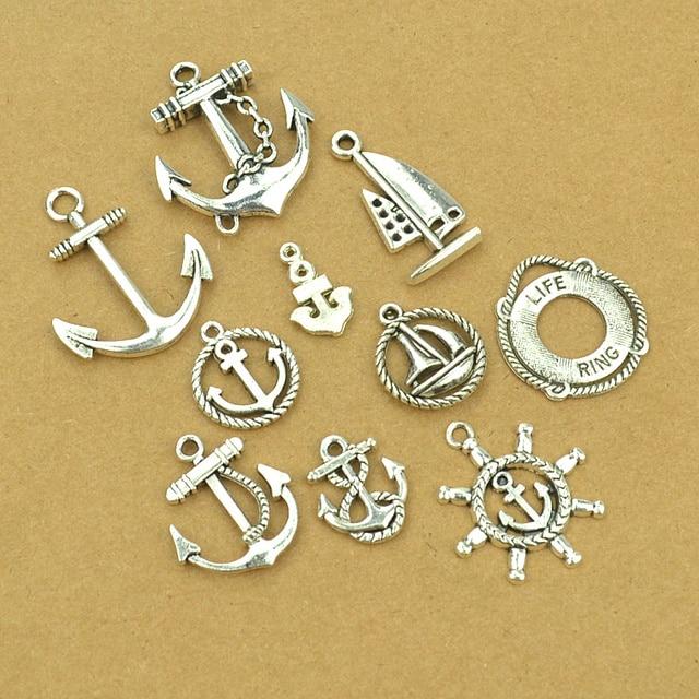 70pcs 10stlye mixsale diy charm nautical pendants vintage silver 70pcs 10stlye mixsale diy charm nautical pendants vintage silver metal anchor charms for jewelry making d40300 aloadofball Gallery