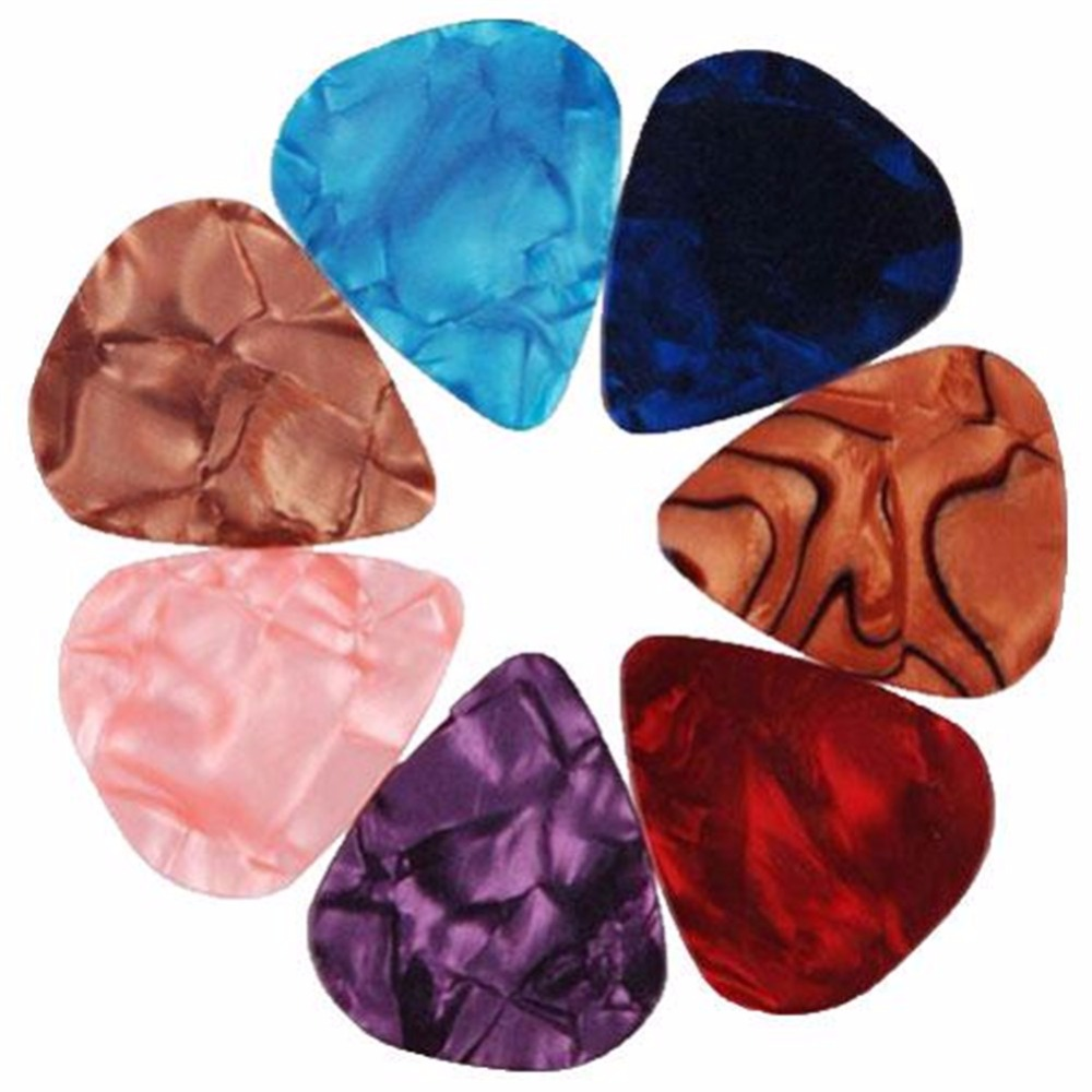 50 PCS Acoustic Electric Guitar Pick Bass Celluloid Plectrum Non-mainstream Smooth bulk 0.46mm 0.72mm 0.96mm Higher Quality