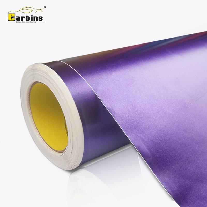 Autocollants de carrosserie en vinyle violet satiné violet mat