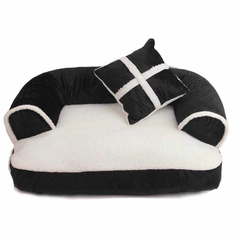 高級快適なペットソファ暖かいソフトベルベット大型犬のベッド子犬ハウス犬小屋居心地猫巣 Sleepping マットクッションペット寝具