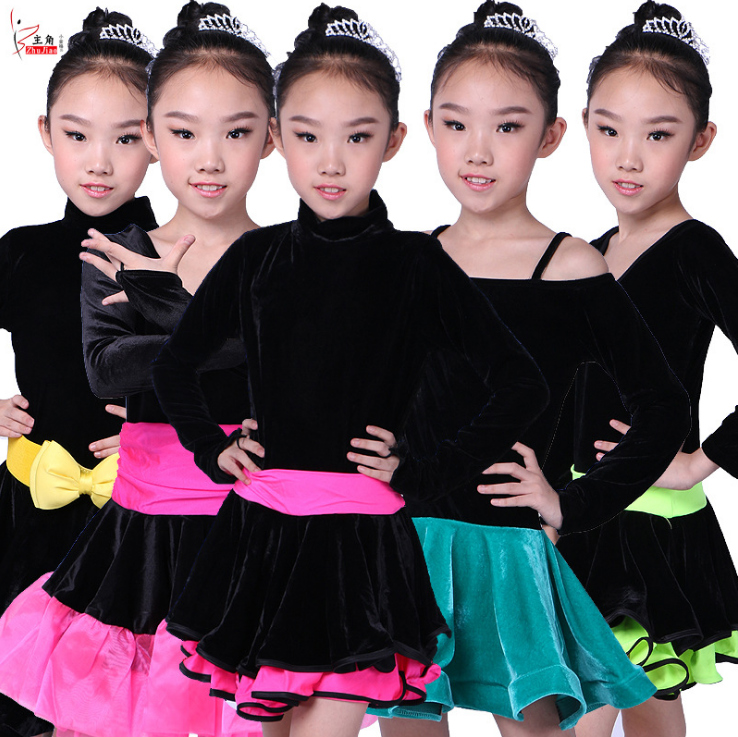 5 Colors 2017 New Fashion Baby Girl Infant Latin Dance Bowknot Patchwork Dress Children Kids Cute Bebe Dacess Dresses Clothing children dance tassel dress girl ballet suspender dress latin dance performance clothing girl s performances summer vestidos 03 page 6