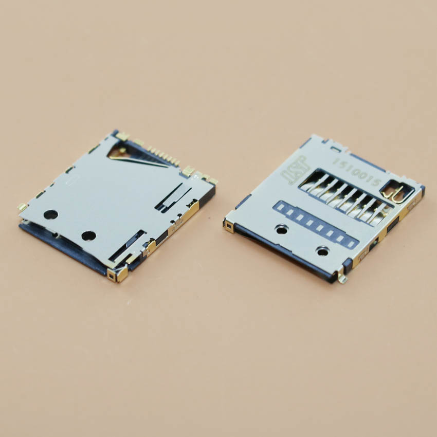 YuXi Micro TF SD Card Reader Module Slot Tray Holder Replacement Part For Sony Xperia Z3 Mini Z3 Compact D5803 D5833