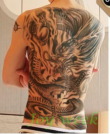 Waterproof Temporary Tattoo Sticker men's whole back tattoo large size dragon Water Transfer Fake Tattoo Flash tattoo for women