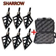 6Pcs 100Gr Archery Arrowheads Point Tips with Storage Box 4 Blades Arrow Head Screw Broadhead For Hunting Shooting Accessories