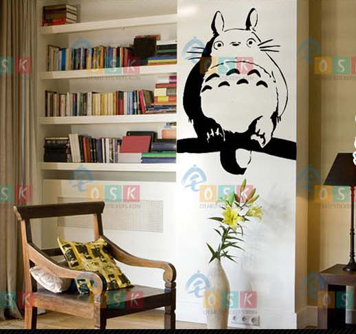 Totoro Decal Japanese Cartoon Totoro Wall Stickers Decal Wall Decor Home  Decoration Totoro Decal