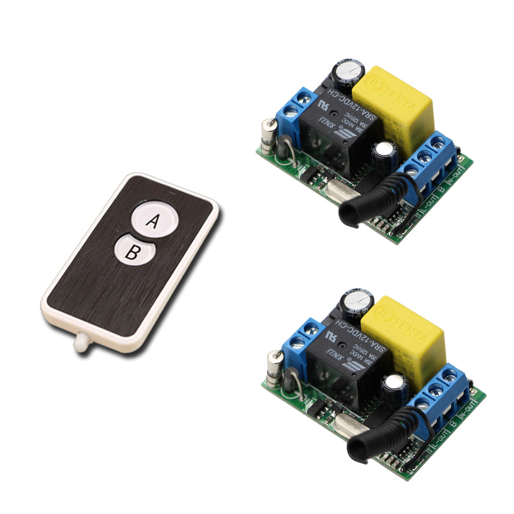 2pcs Receiver Transmitters with 2 Dual Button Remote Control Wireless Remote Control Switch LED Light Lamp Remote ON OFF System wireless pager system 433 92mhz wireless restaurant table buzzer with monitor and watch receiver 3 display 42 call button