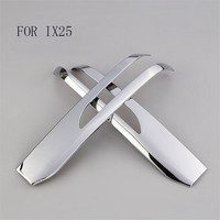 CHROME ABS For Hyundai Creta IX25 2015 2016 2017 ABS Chrome Rear View cover RearView Mirror Trim Wing Decoration Accessories