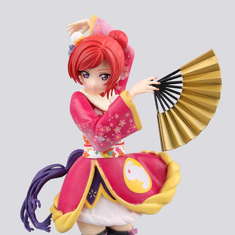 Anime Love Live! School Idol Project Maki Nishikino F Kimono VerPVC Action Figure Collectible Model Toy 17cm KT2377 free shipping 9 anime love live maki nishikino birthday project boxed 22cm pvc action figure collection model toy doll gift