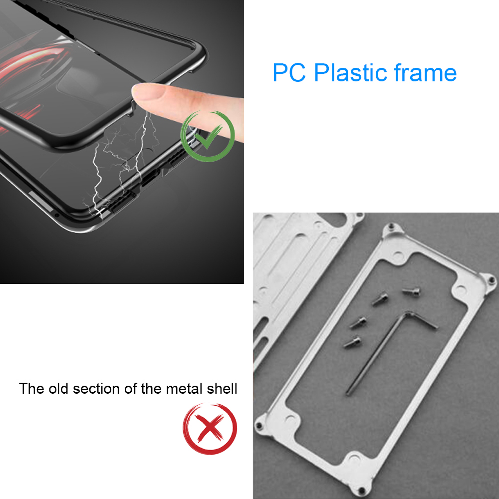 Magnetic Flip Phone Case with screen protector for HuaweiP20 Pro Clear Tempered Glass Magnet Case for huawei p20 pro Metal Cover (12)