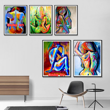Nude painting 100% Hand painted Sexy Women Canvas Painting Home Decoration Wall Pictures For Living room bedroom bar decoration
