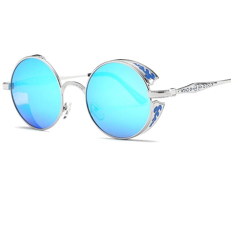 Metal Frame Vintage Round Sunglasses Men Polarized Lunettes Rondes Unisex Steampunk Goggles Zonnebril Mannen Shades for Women