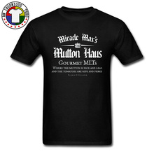 Black Classic Movie Tshirts Miracle Maxs Mutton Haus Letter Print Tshirt Men Fashion Casual Loose Tee Shirt For Father Big Size