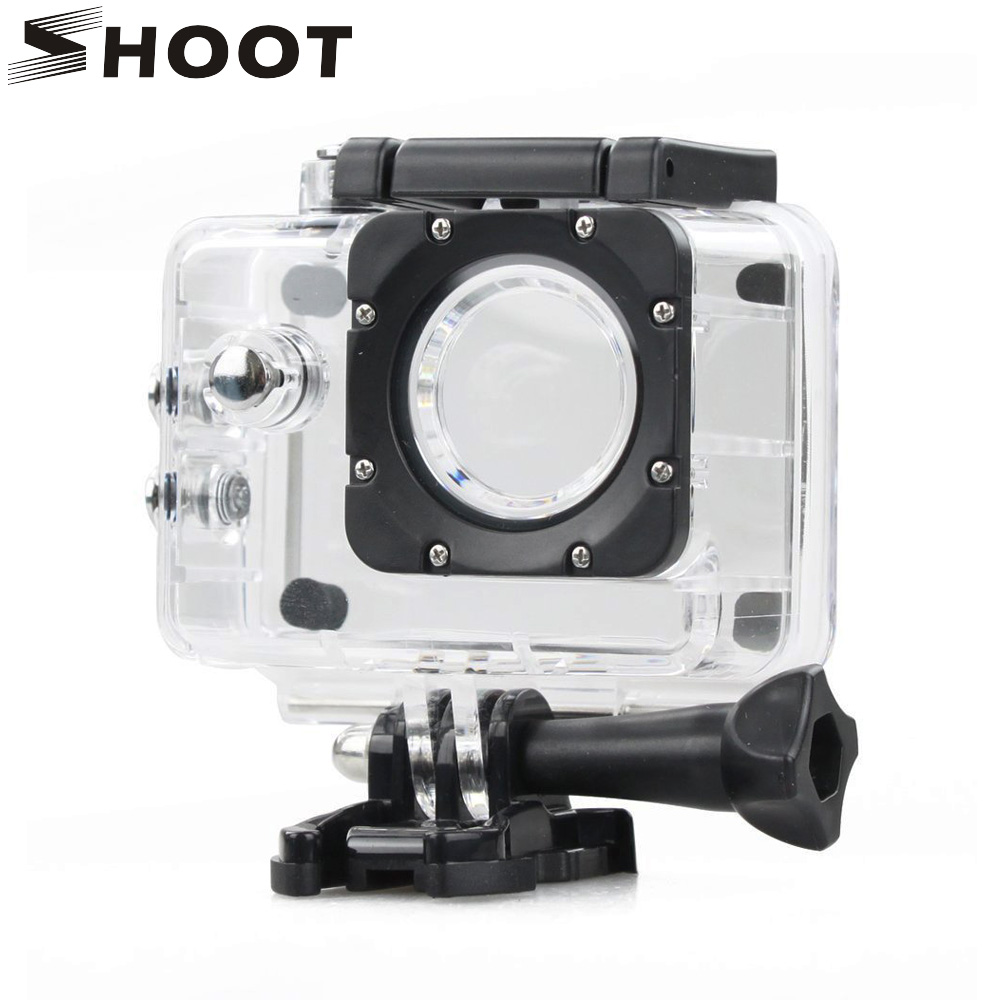 SHOOT SJ4000 Waterproof Case Underwater Housing Shell for SJCAM SJ4000 SJ 4000 and SJ4000 WIFI Camera Accessories