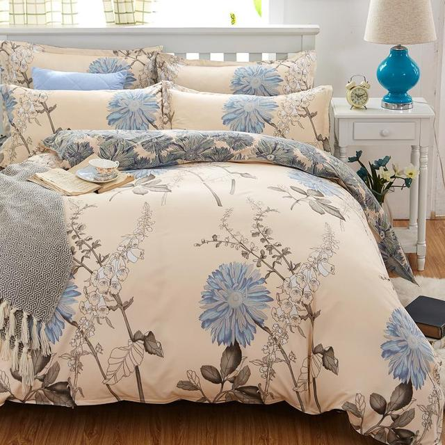 Colorful Patterned Cotton Bedding Set