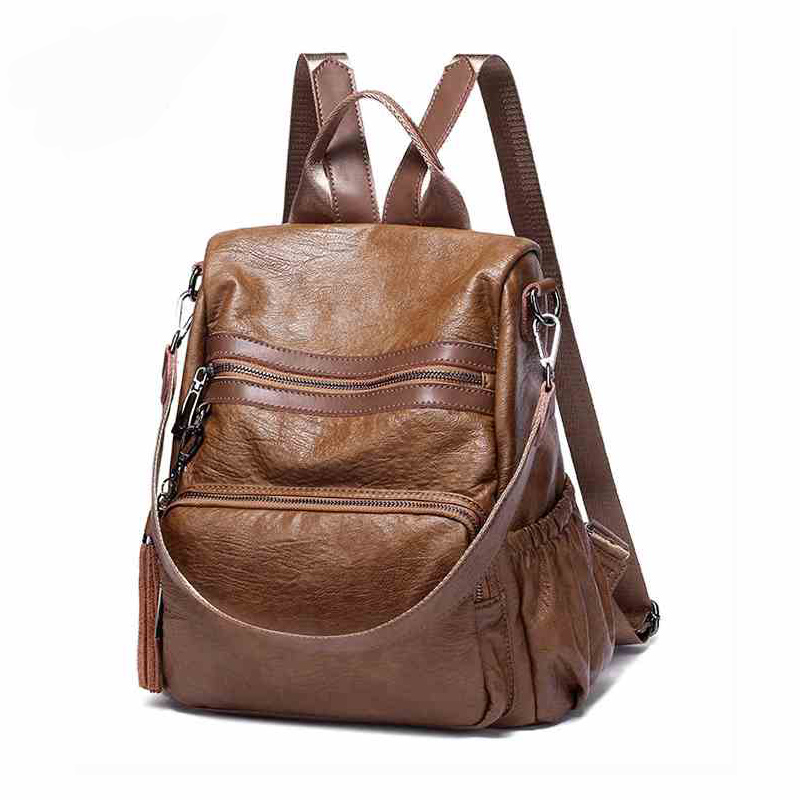 Women Backpack School Bags For Teenagers Girls Fashion Vintage Anti-theft Leather Backpacks Shoulder bag Brand feminine Mochila