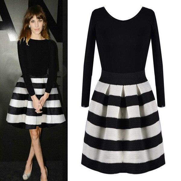 Outfit vestido negro y blanco