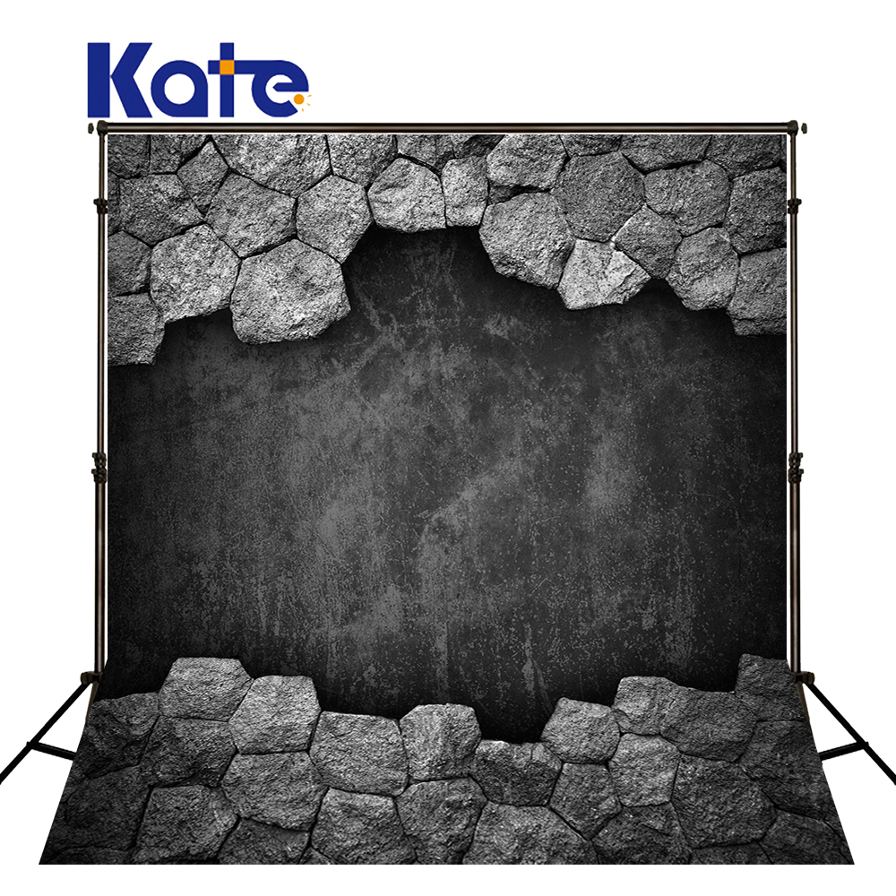 Kate Retro Black And White Backdrops Wood And Brick Wall Backdrop Indoor Wedding Backdrops Large Size Seamless Photo 857 seamless nail wedding photo frame wall paintings hook the real invisible