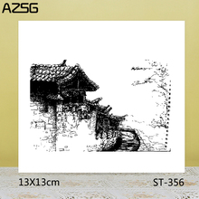AZSG Small country house Stamps/Seals For scrapbooking DIY Card Making/Album Silicone Decoration crafts 13*13cm