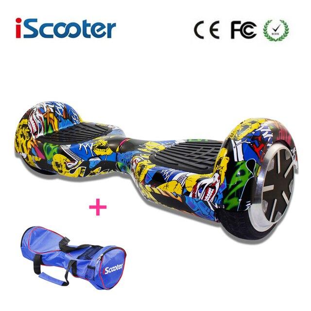 IScooter 7 Inch Hoverboard 2 Колеса Самостоятельная Баланс Электрический Самокат Красочные Электрический Наведите Доска Со СВЕТОДИОДНОЙ Смарт Скейтборд Нет НАЛОГА