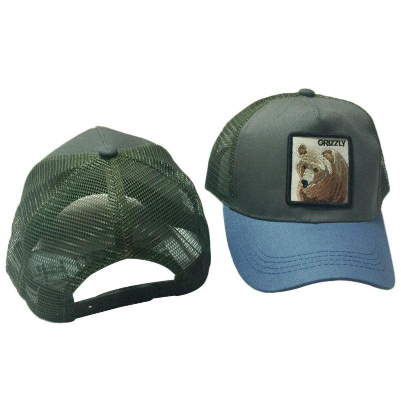 Unisex de moda Animal parche bordado de malla de algodón gorra de ... 785a8d3b5b6
