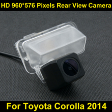 PAL HD 960*576 Pixels high definition Parking Rear view Camera for Toyota Corolla 2014 Car Waterproof Backup Reverse Camera