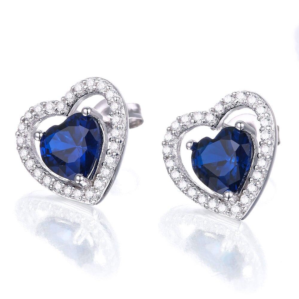 Dubbel-R 925 Sterling Silver Örhängen För Flicka Hjärta - Fina smycken - Foto 3