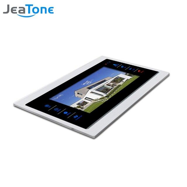 """JeaTone 7"""" Touch Button Video Door Phone Intercom Doorbell Metal frame Indoor Monitor"""