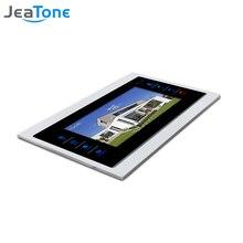 """JeaTone 7 """"dokunmatik tuş görüntülü kapı telefonu interkom kapı zili Metal çerçeve kapalı monitör"""