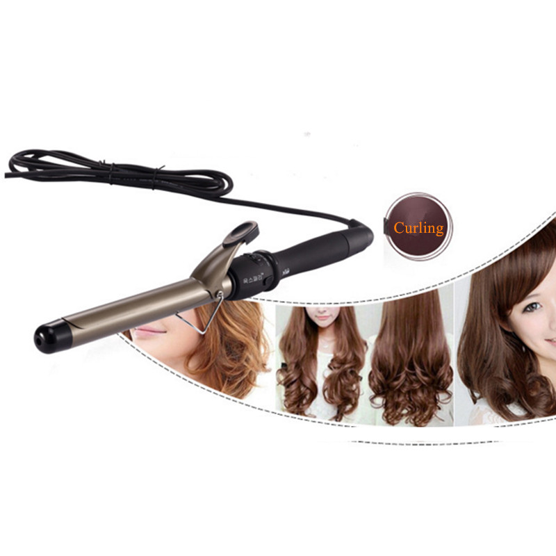 NuMe Professional Tourmaline Ceramic Curling Iron LED Display Hair Curler 25mm Wand Roller Styling Tools Digital Curling Wand kemei km 173 led adjustable temperature electric hair curler accessories hair jewelry digital tourmaline ceramic styling tools