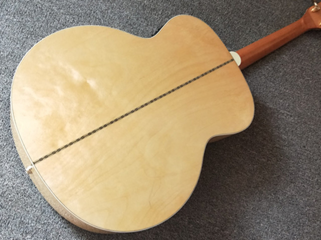 Natural 43 inch Left Hand Concert Acoustic Guitar,Solid Spruce Top Acoustic Guitar,Maple Back and Side,FreeShipping 3