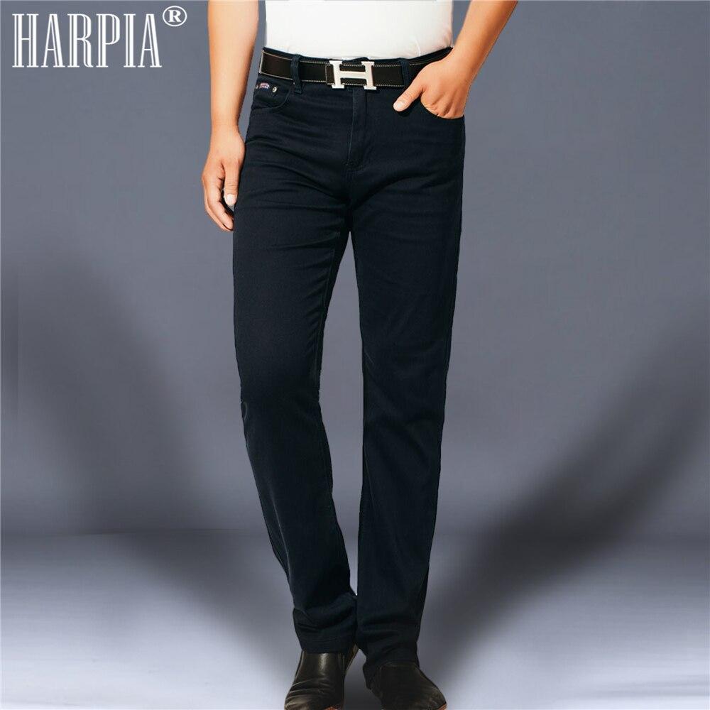 HARPIA мужские классические повседневные брюки мужские осенние новые хлопковые эластичные прямые брюки мужские большие размеры Полная длина ...